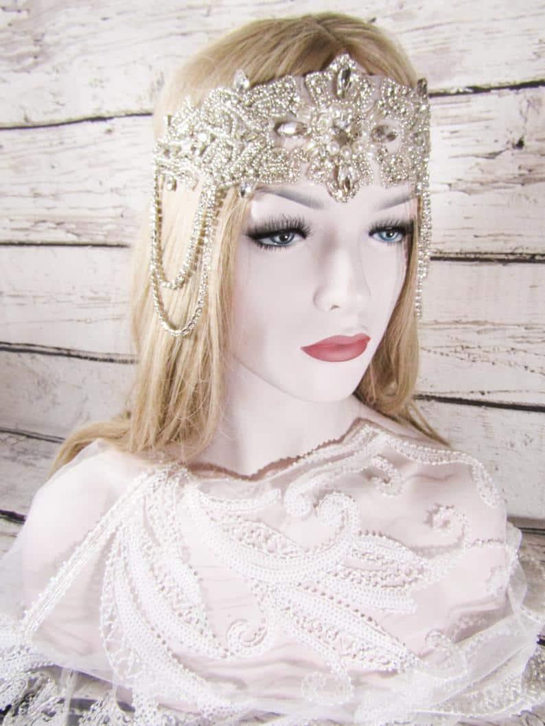 Headpiece Rhinestone Flapper Headband Great Gatsby Headband | Etsy