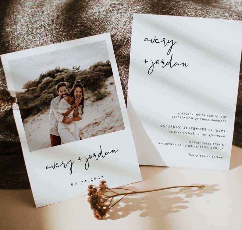 Minimalist Wedding Invitation Template  Editable Minimalist | Etsy