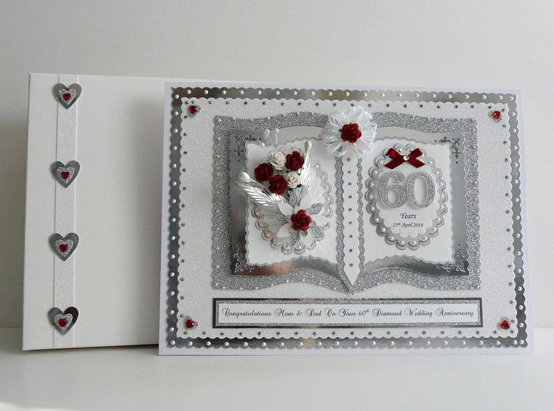 60th Diamond Wedding Anniversary Card for