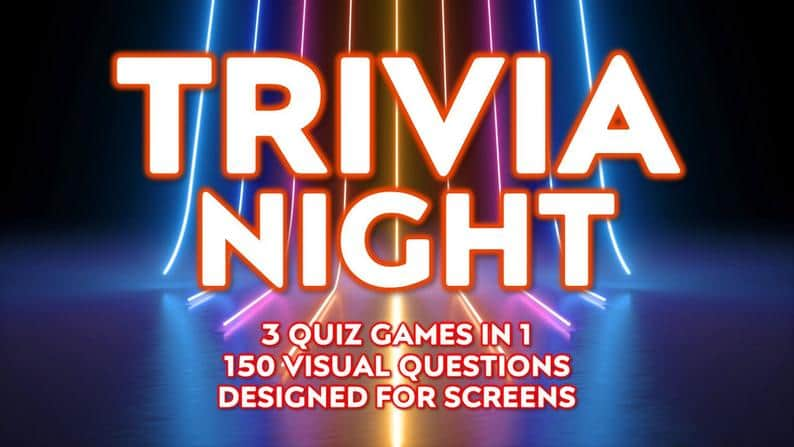 TRIVIA NIGHT  3 Virtual Quiz Games in 1  Specially Designed | Etsy