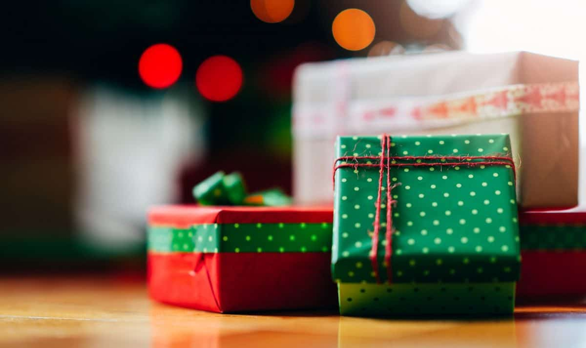 white elephant gift ideas wrapped up in green paper