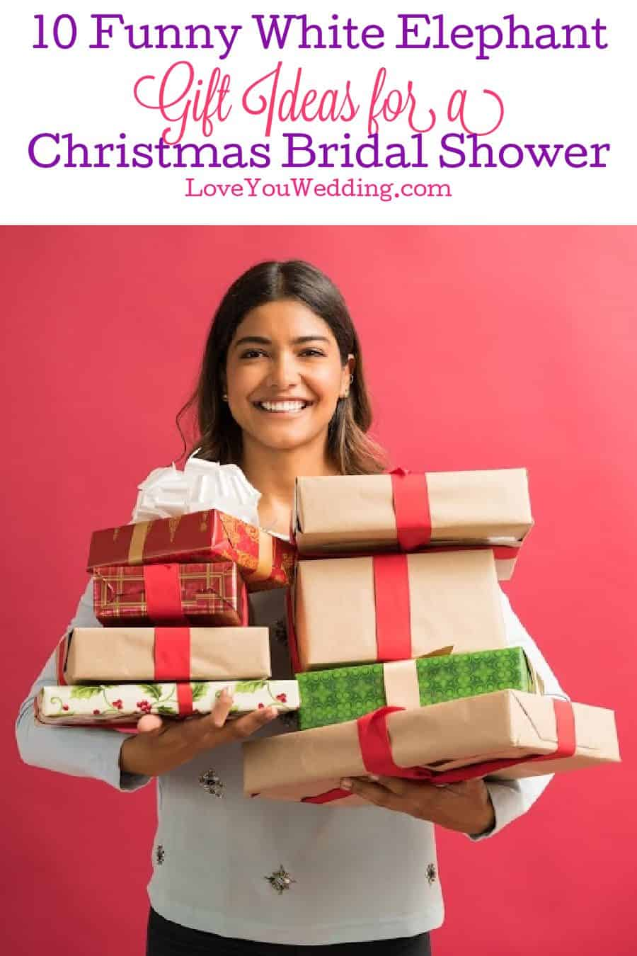 10 Funny White Elephant Gift Ideas For Christmas Themed Bridal Shower Love You Wedding