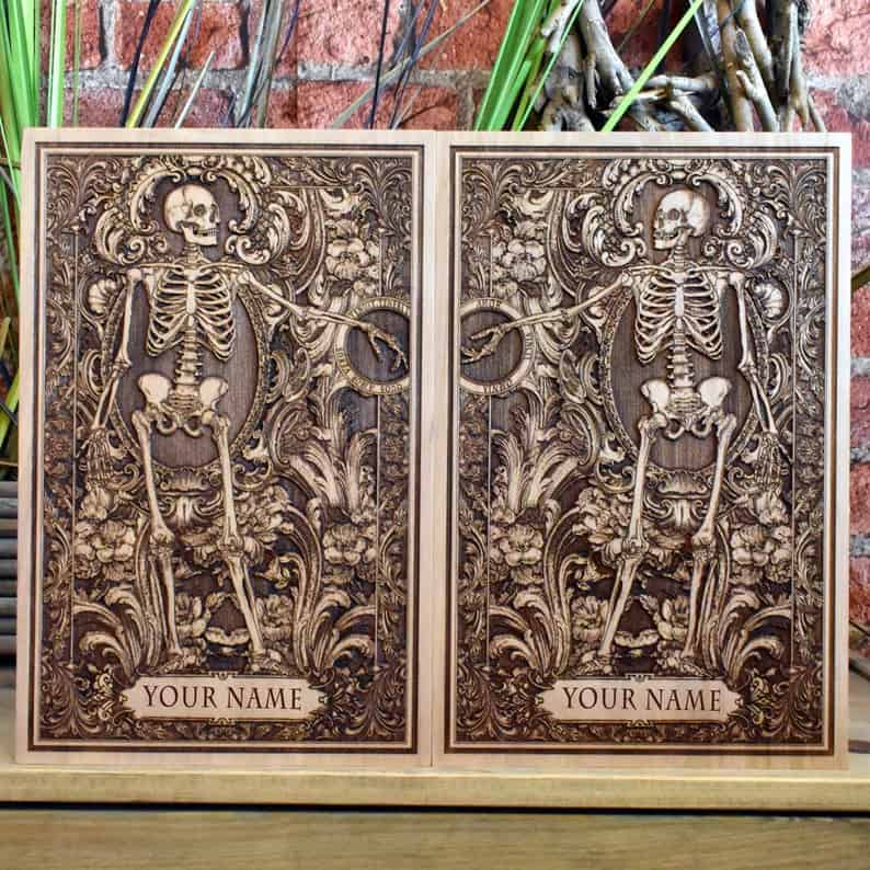 Skeleton art expensive gay and lesbian engagement gifts