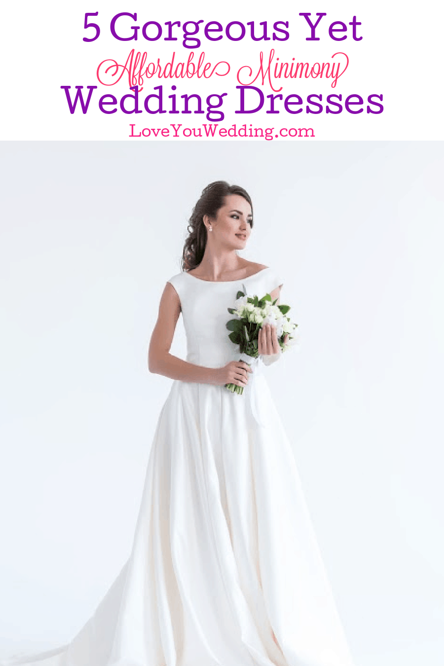 Looking for beautiful minimony wedding dresses to wear to your downsized ceremony? Check out 5 stunning yet affordable options!