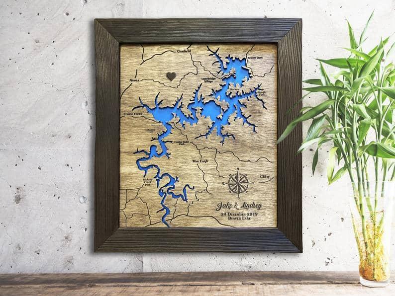 Custom Engraved Map