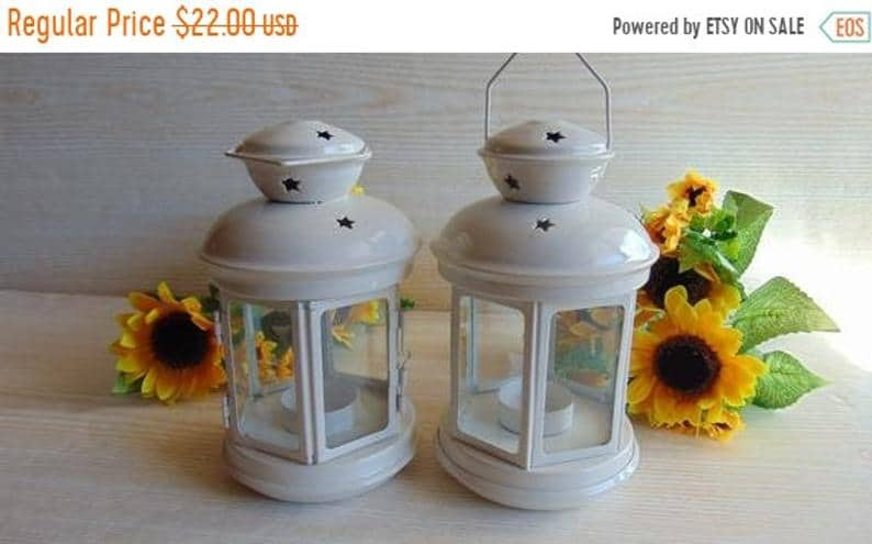 vintage lesbian wedding lanterns for decor