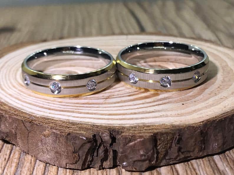 His and his Handmade Customize 18K Gold Filled Matching | Etsy