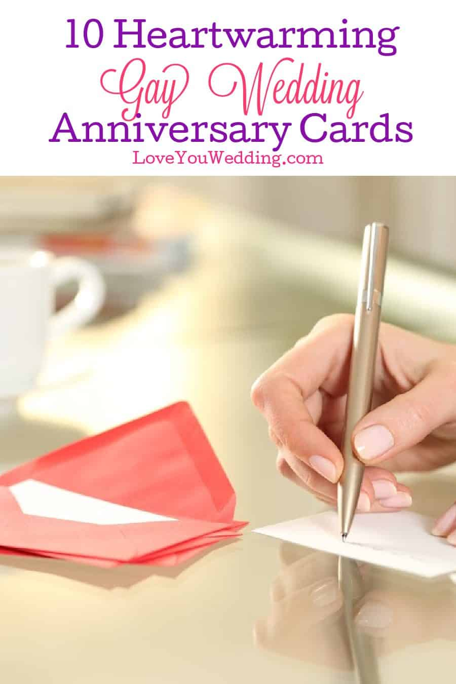 Searching for some amazing gay wedding anniversary cards for your favorite same-sex couples? Check out these 10 heartwarming ideas!