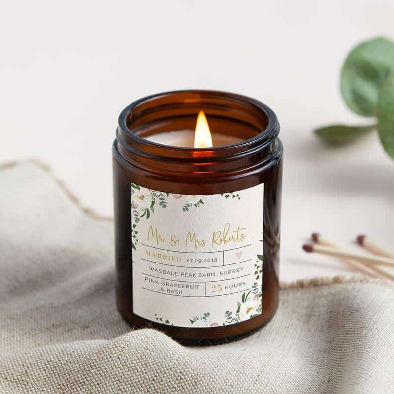 Personalized Apothecary Candle