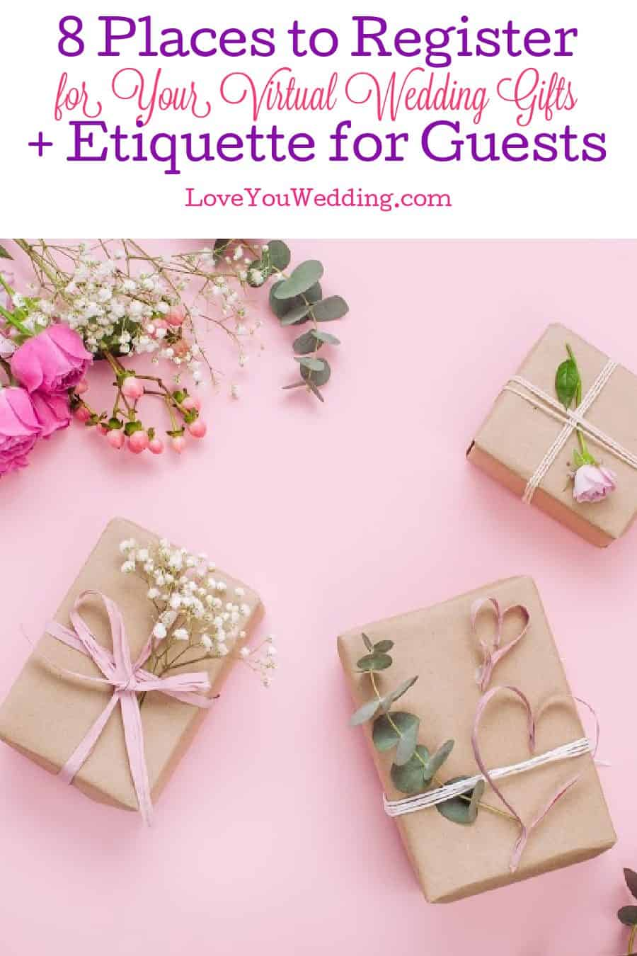 Check out 8 amazing virtual wedding registry ideas for couples, plus our guide to gifting etiquette for guests of a Zoom ceremony!