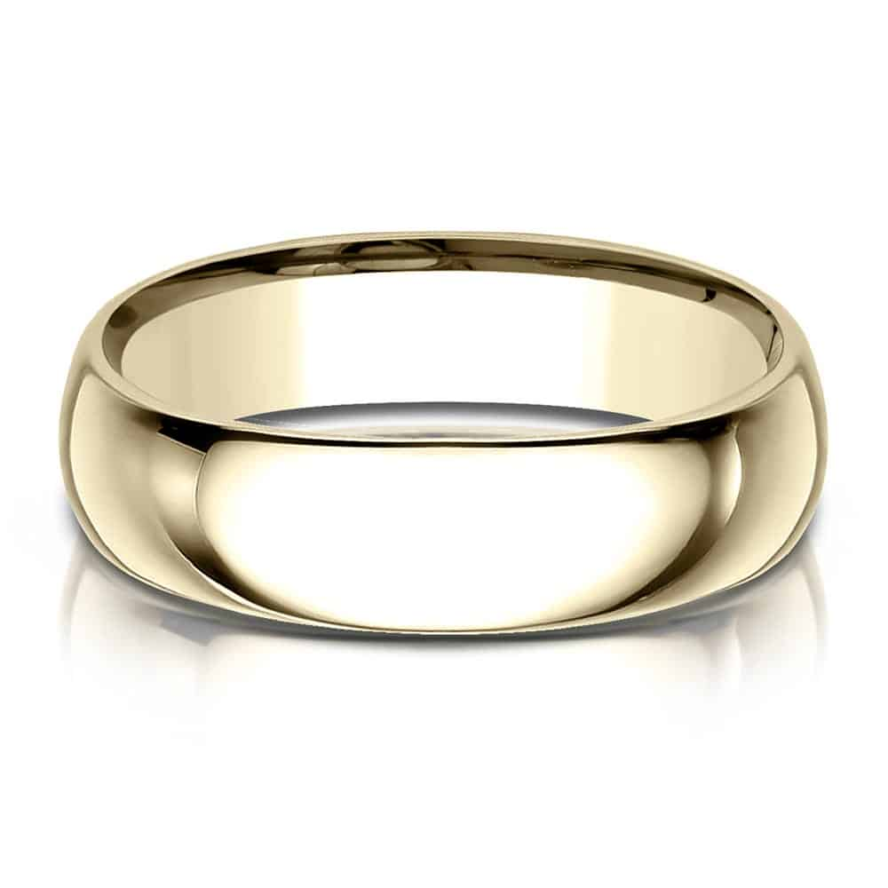 yellow gold  Wedding Band for a Hardworking Man or Woman