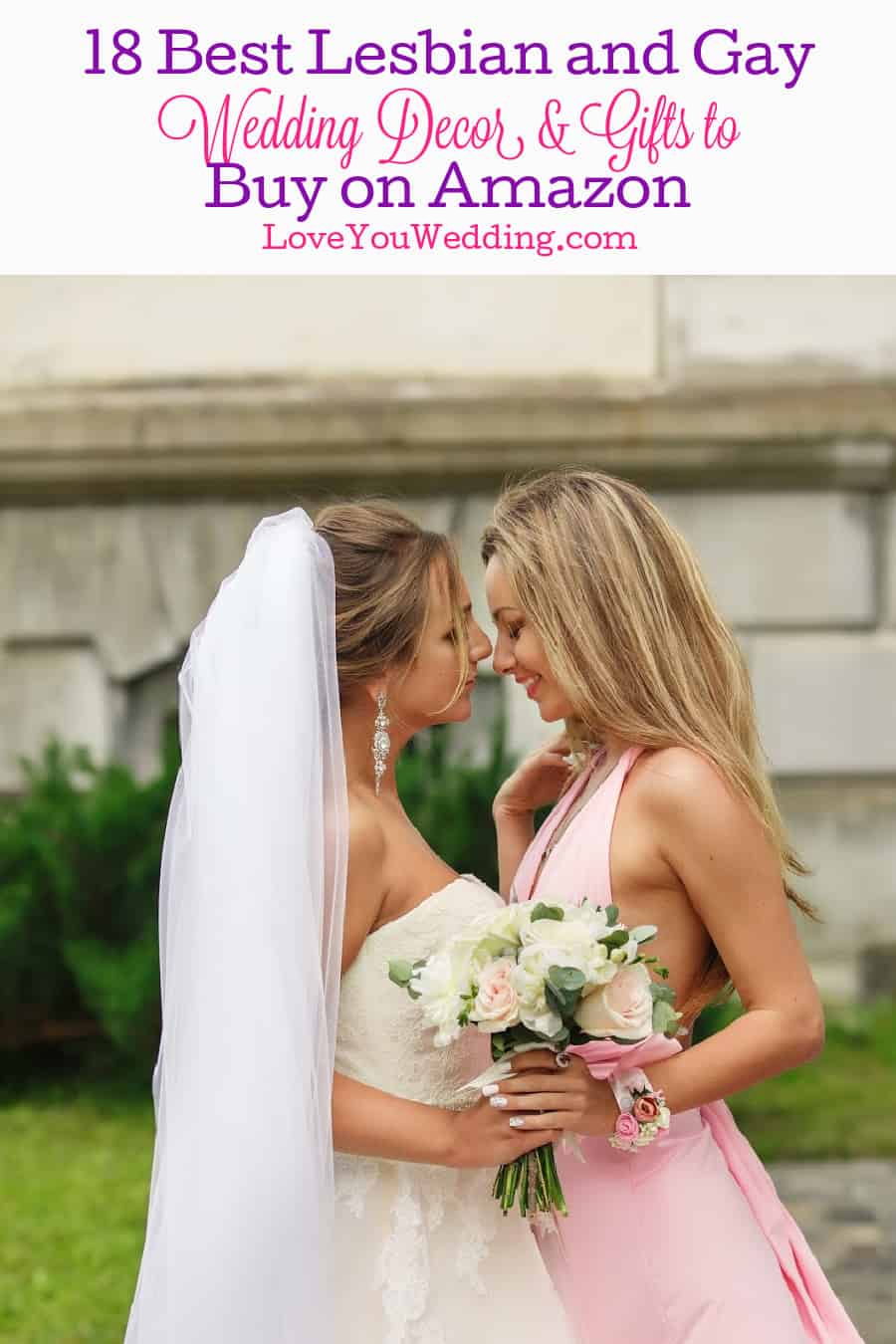 From planners to décor to gifts, we rounded up all the best lesbian and gay wedding things to buy on Amazon. Take a peek!