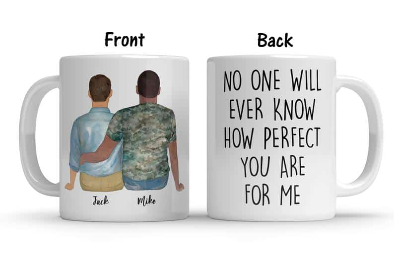 Personalized Mug Best Lesbian and Gay Etsy Wedding Gifts