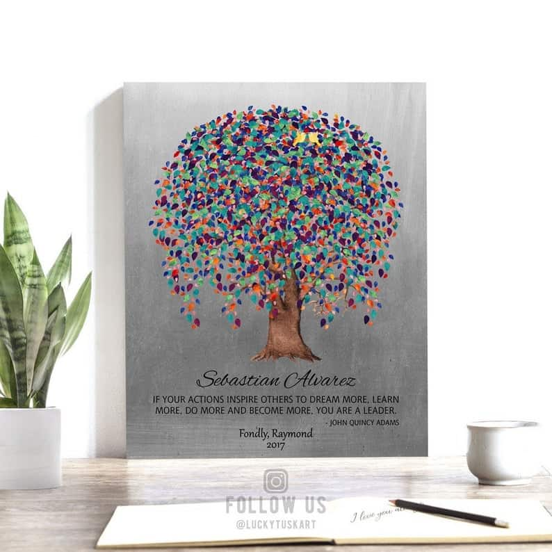 Personalized Gift for Boss Mentor Weeping Willow Tree Tin   Etsy