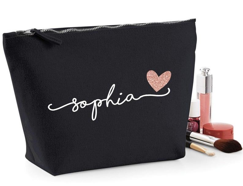 Makeup Bag Personalized Custom Makeup Bag Personalized Bag | Etsy