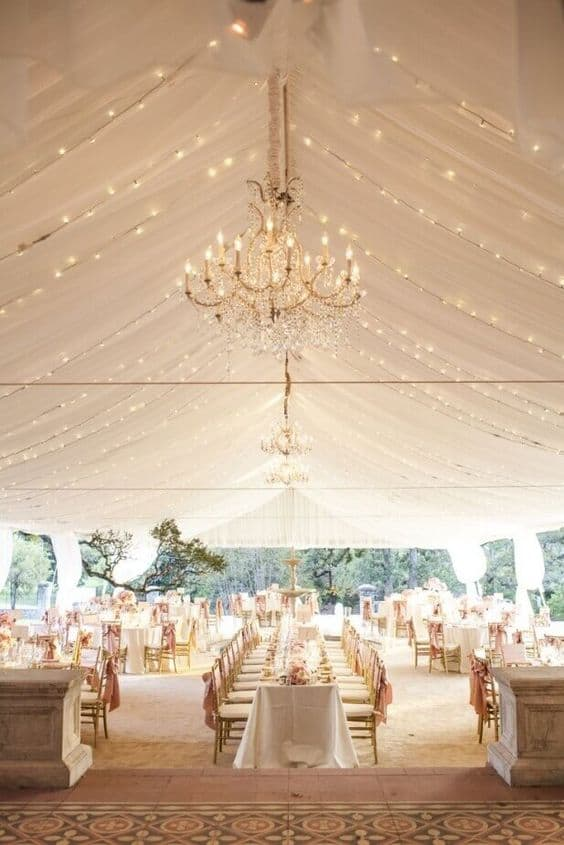 Excellent decoration in a perfectly lit tented set up
