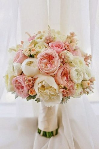 Peony - large flowers;Carnations - small flowers