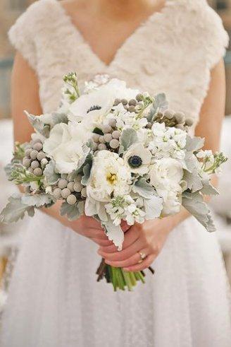 big round wedding bouquet