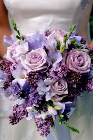 Hydrangea - green flowers; Roses - orange flowers, Peony - large pink and orange flower; Tulips - salmon flowers