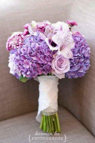 amazing violet blue round bouquet