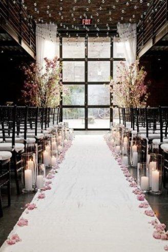 romantic walkway to altar