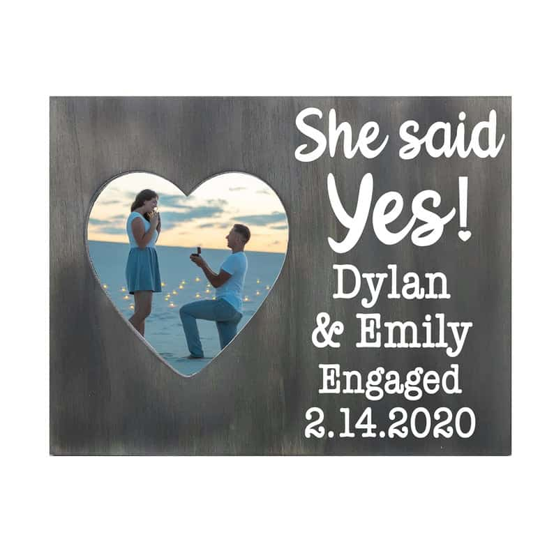 personalized photo frame with