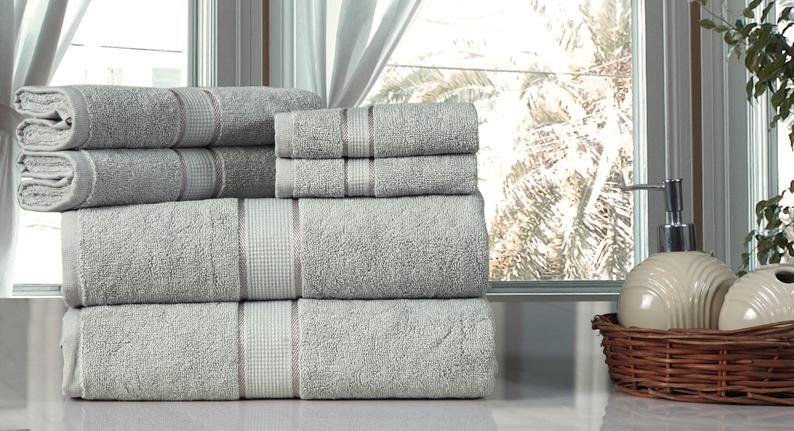 6 pcs of gray towel