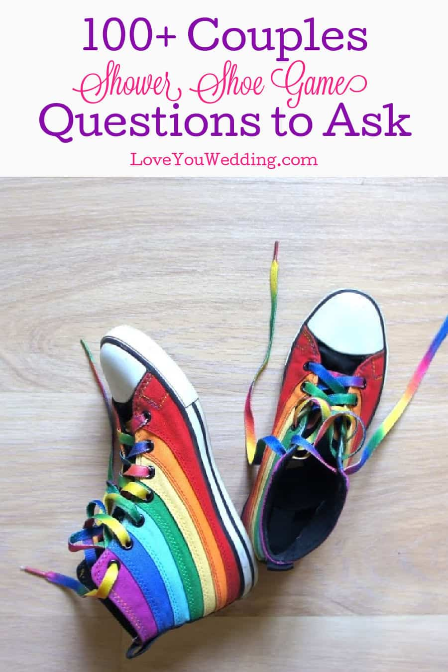 Rainbow sneakers on a white background with text,
