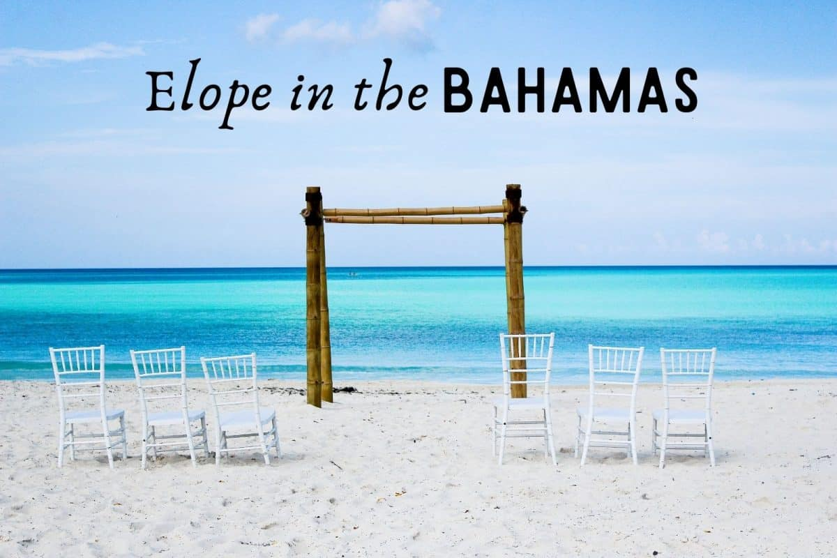 a beautiful crystal clear beach for bahamas elopement