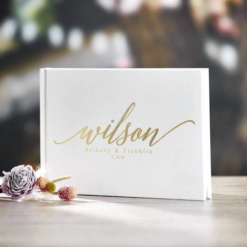 Gold Foil Wedding Guest Book