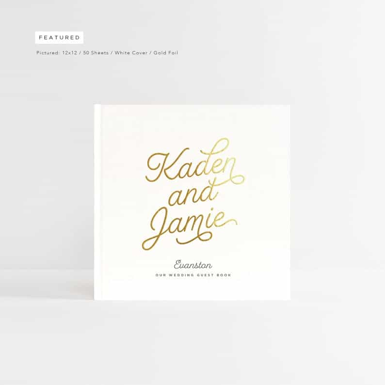 Large White Guestbook