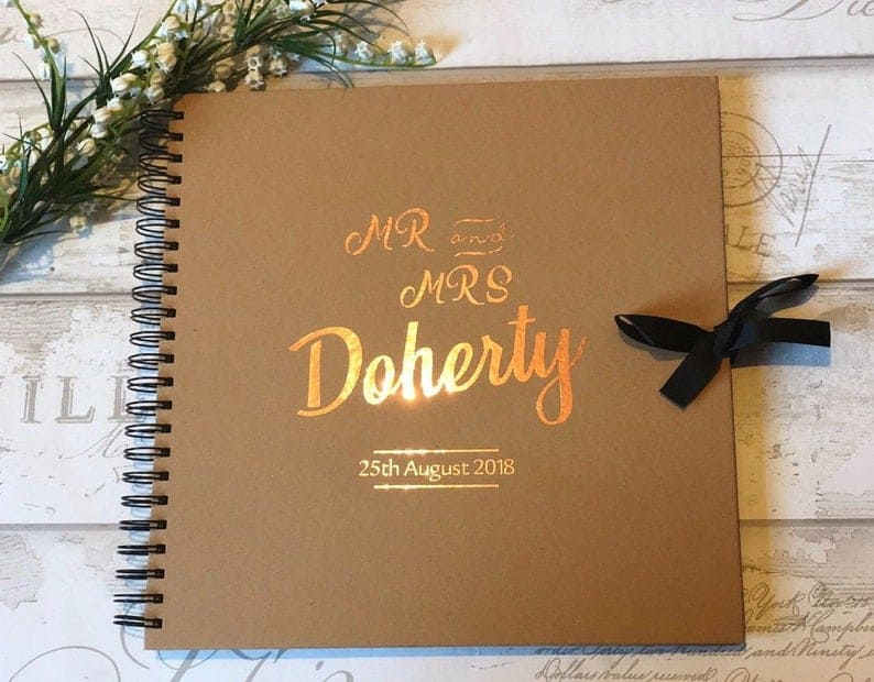 Wedding Guest Book Large Mr and Mrs Mr and Mr Mrs and Mrs   Etsy