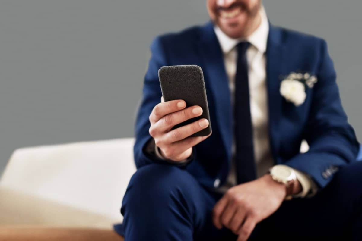 groom video calling his soon to be wife