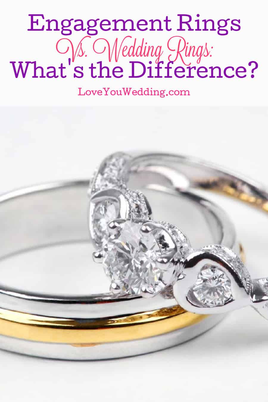 an Engagement ring vs wedding ring