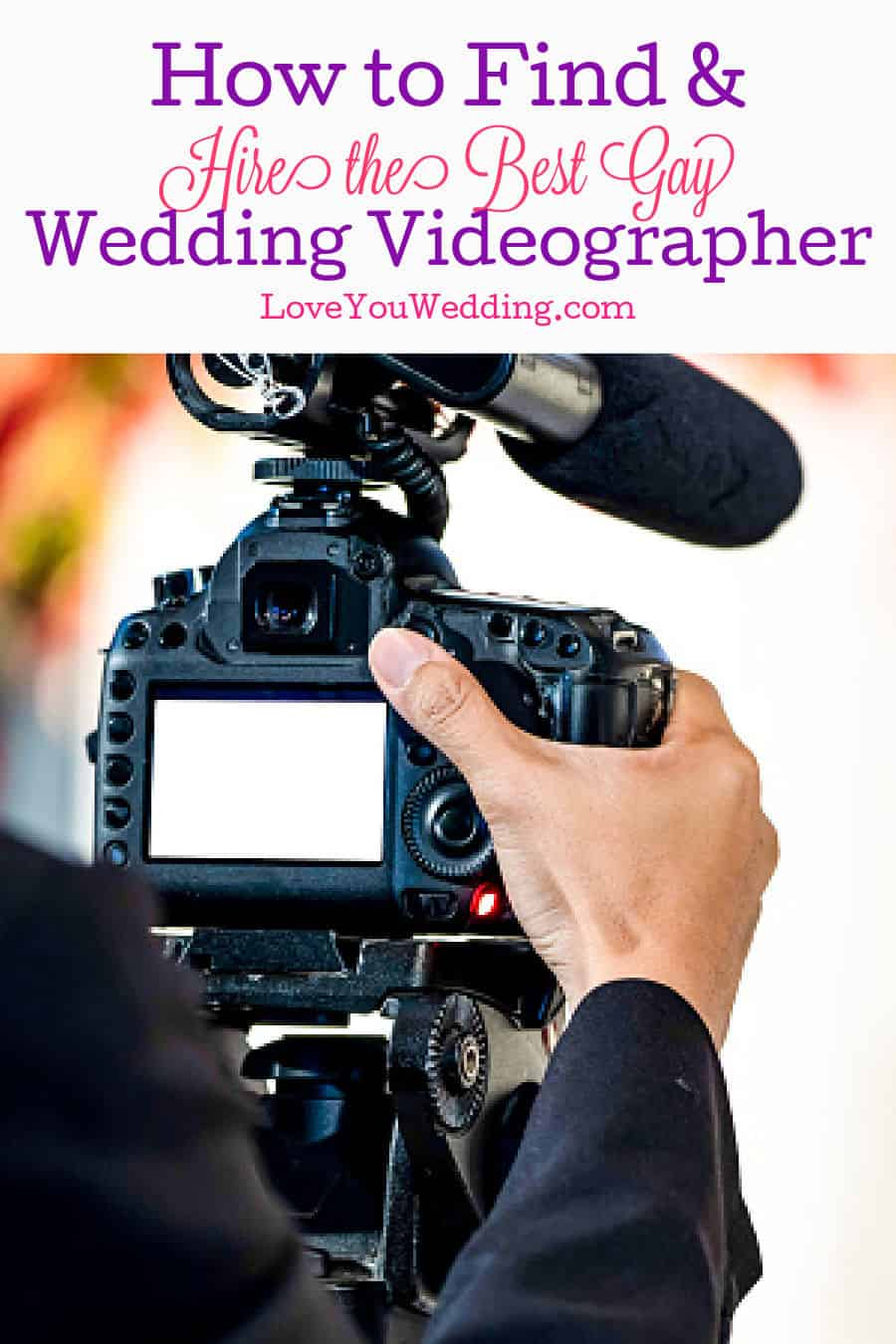 a photographer that specializes in gay wedding videography filming