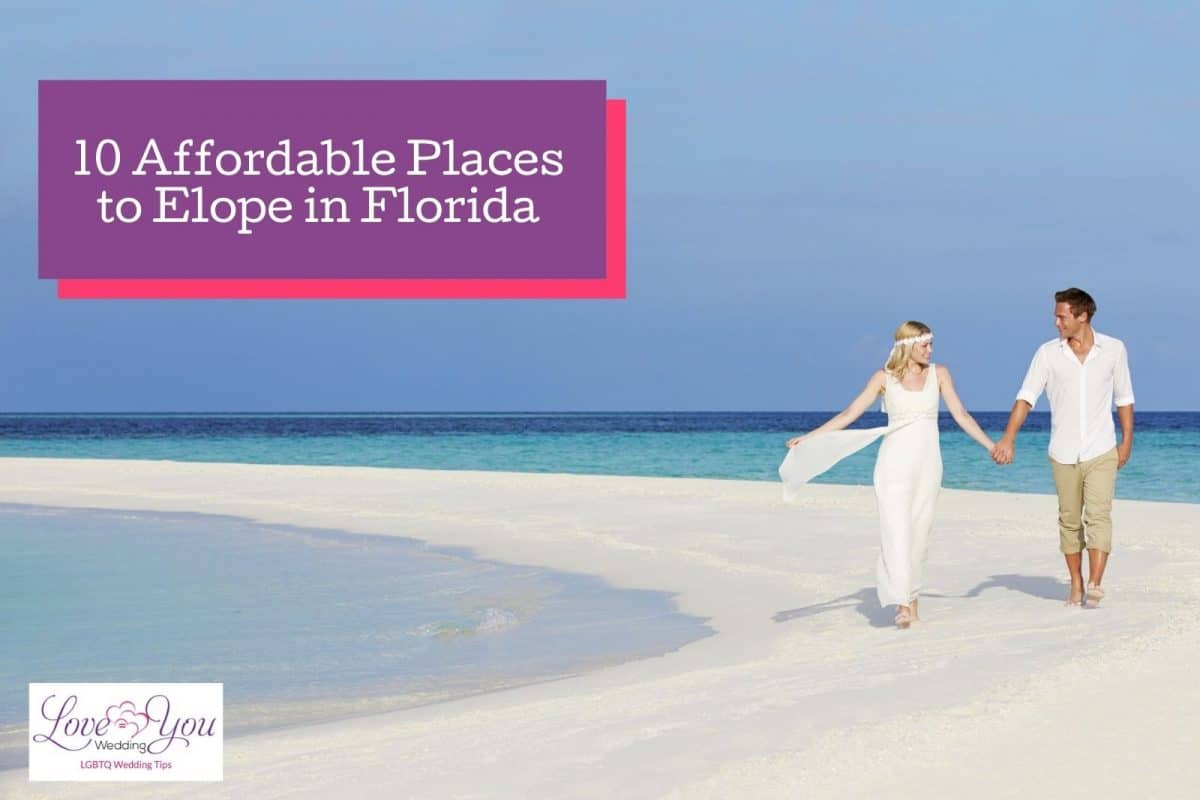 a beautiful married couple walking down a florida beach which is one of the most affordable places to elope in Florida