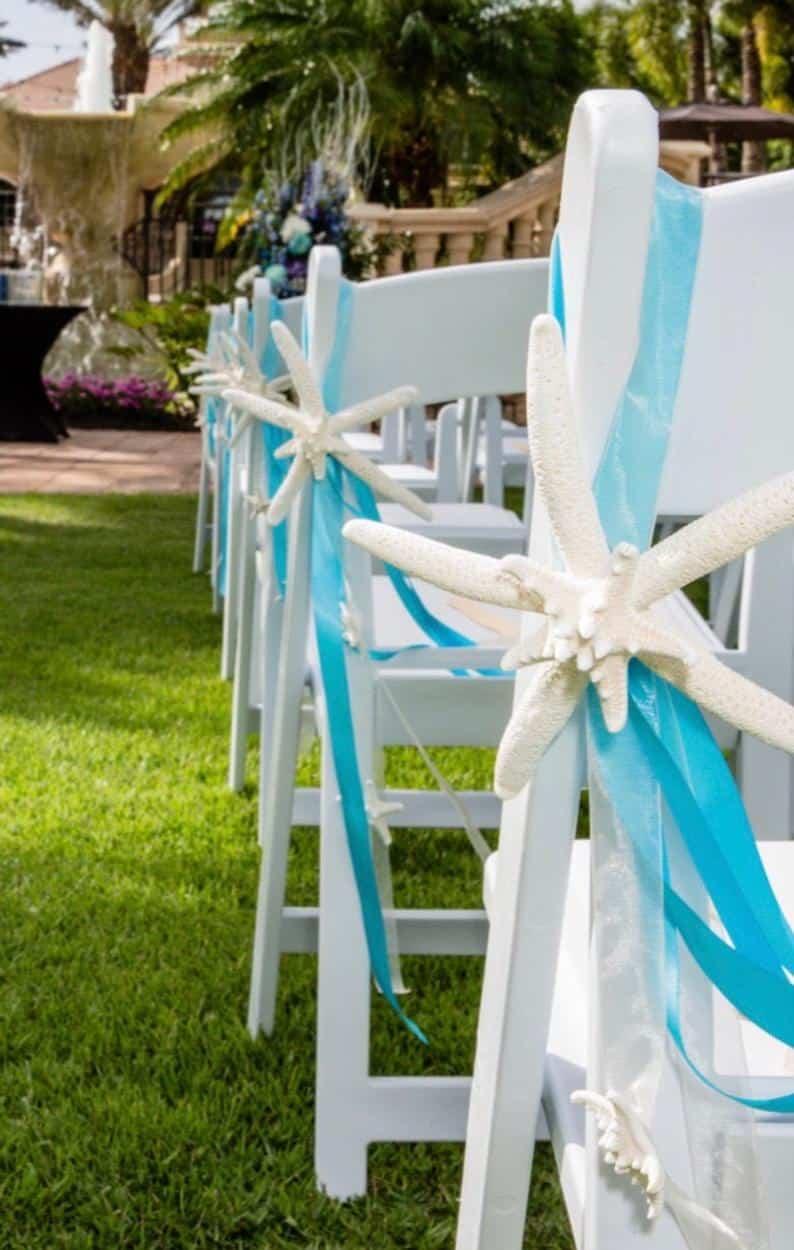 Beach Wedding Decor-Starfish Chair Decoration