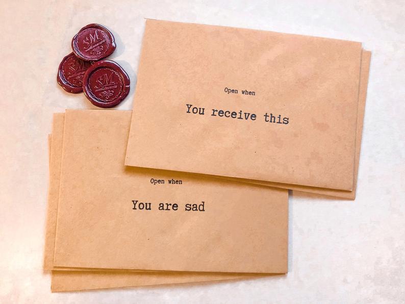 Open When Envelopes Letters Set