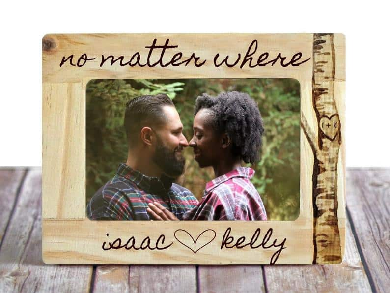 Personalized Long Distance Relationship Picture Frame