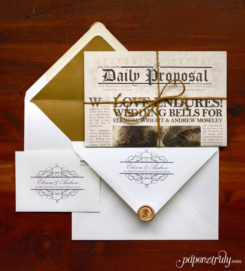 The Daily Proposal - Vintage invitation