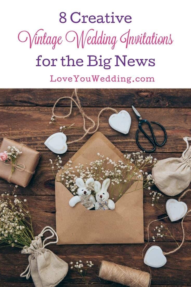 craft materials to use for DIY vintage wedding invitation