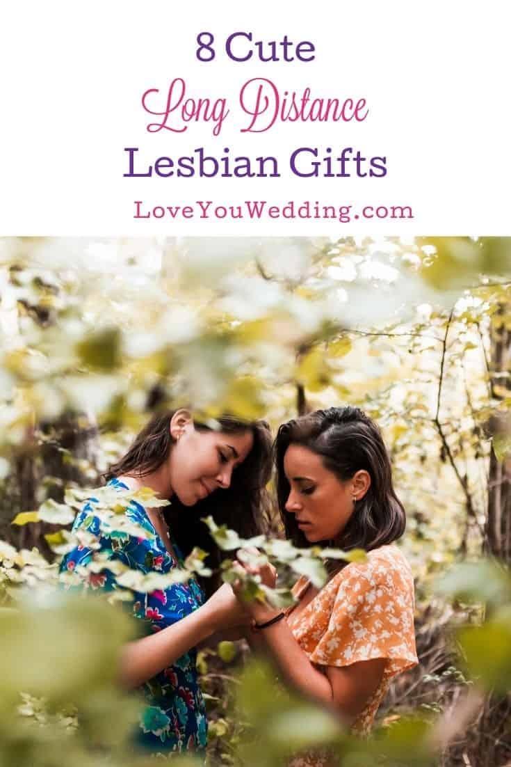 lesbian couple in a garden
