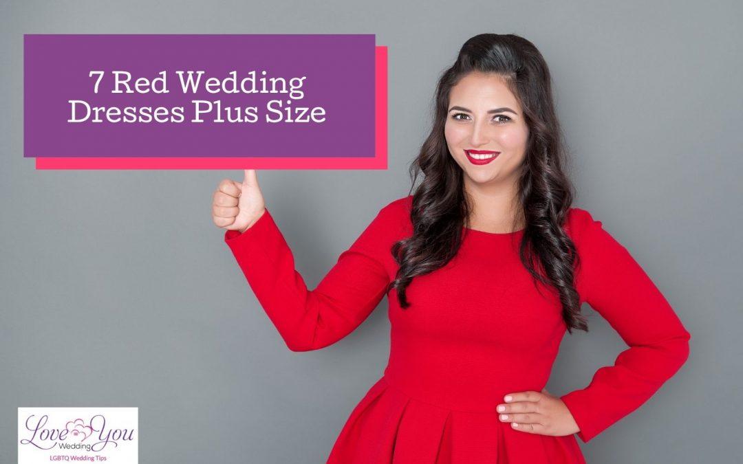 7 Exquisite Red Wedding Dresses Plus Size in 2021