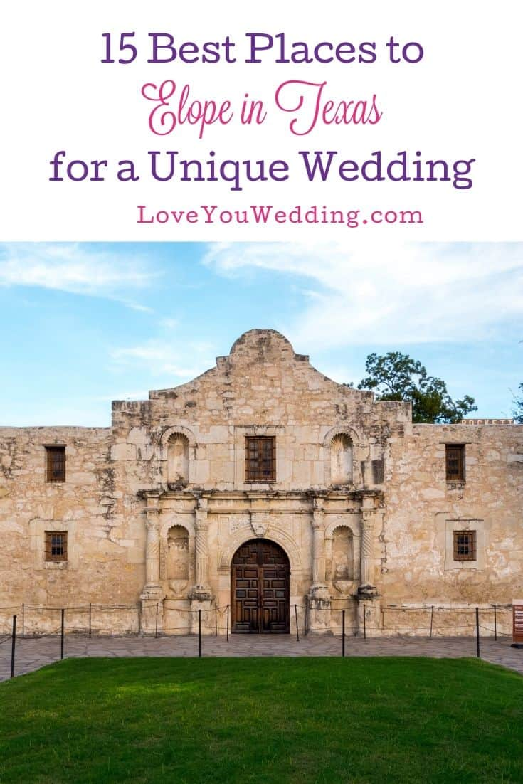 The Alamo, one of the best places to elope in Texas