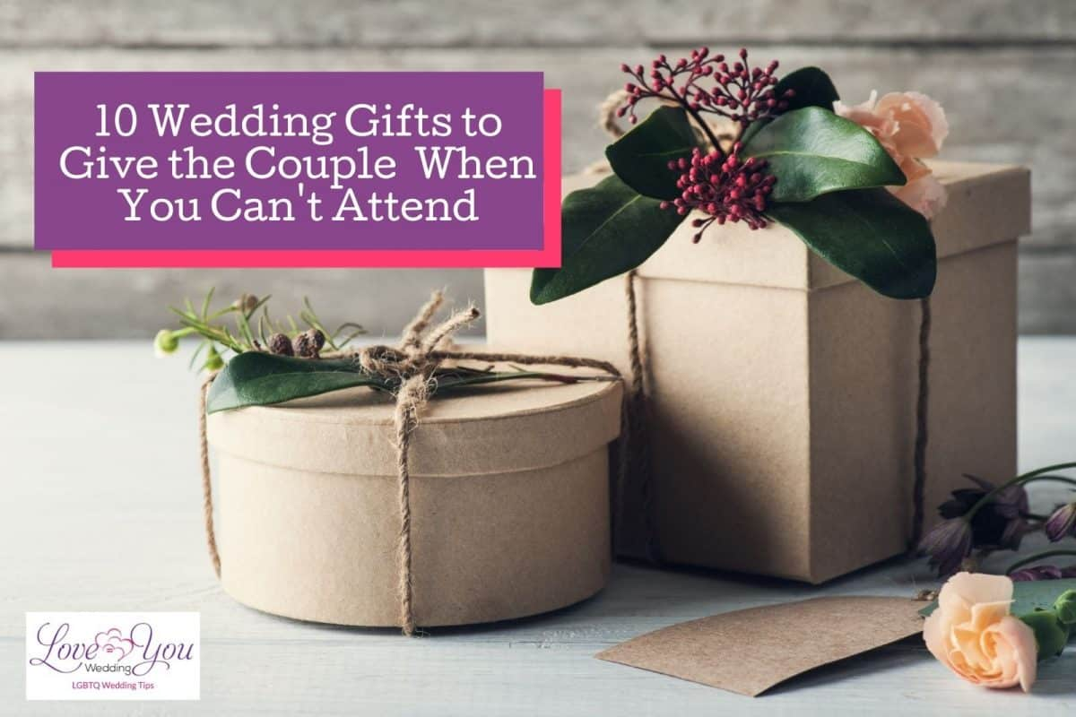 brown rustic boxes with wedding gifts when not attending the ceremony