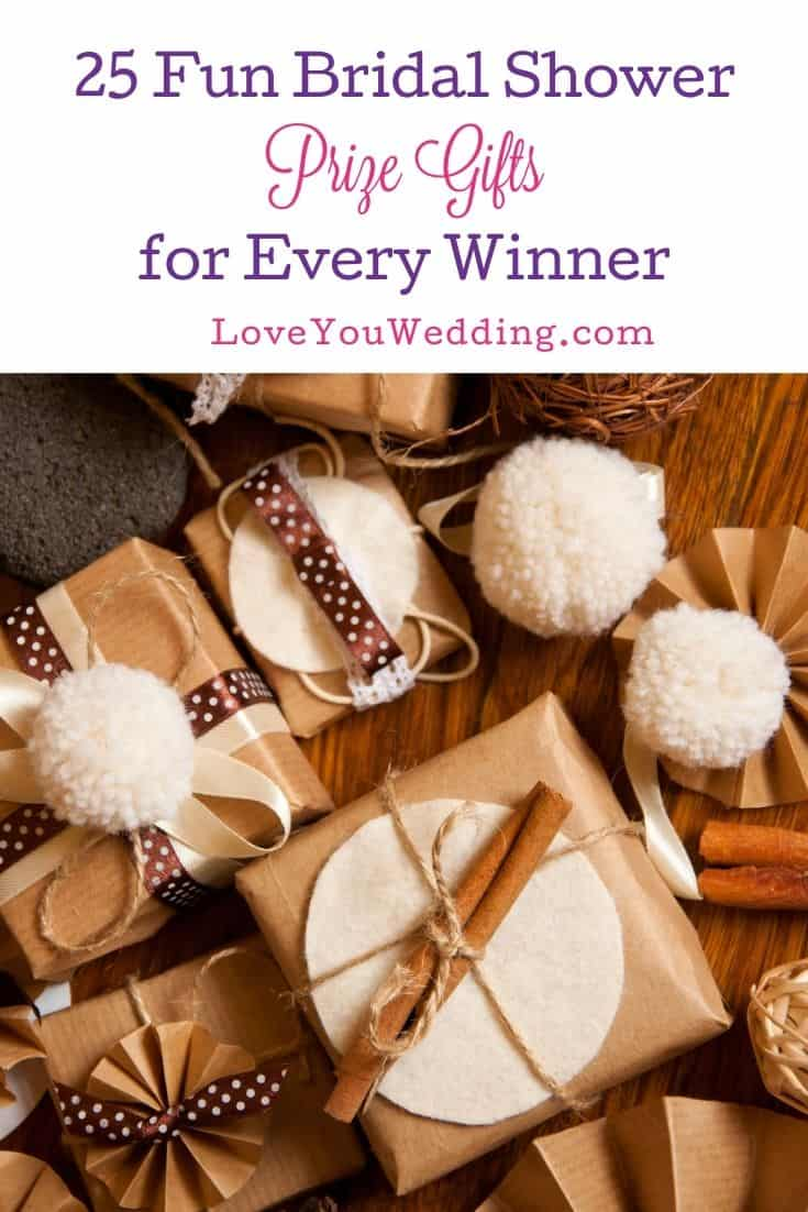 beautifully wrapped bridal shower prize gifts