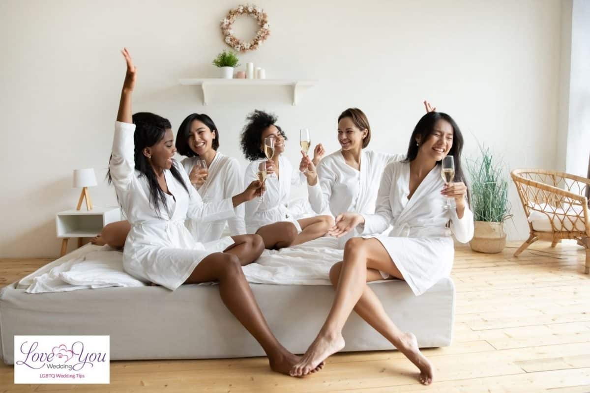 group of female having a wine party