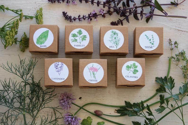 Herb wedding favors