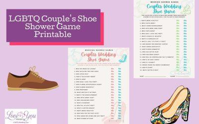 LGBTQ Couple's Shoe Shower Game Printable