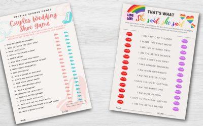 Virtual & Printable LGBTQ Bridal Shower Game Bundle